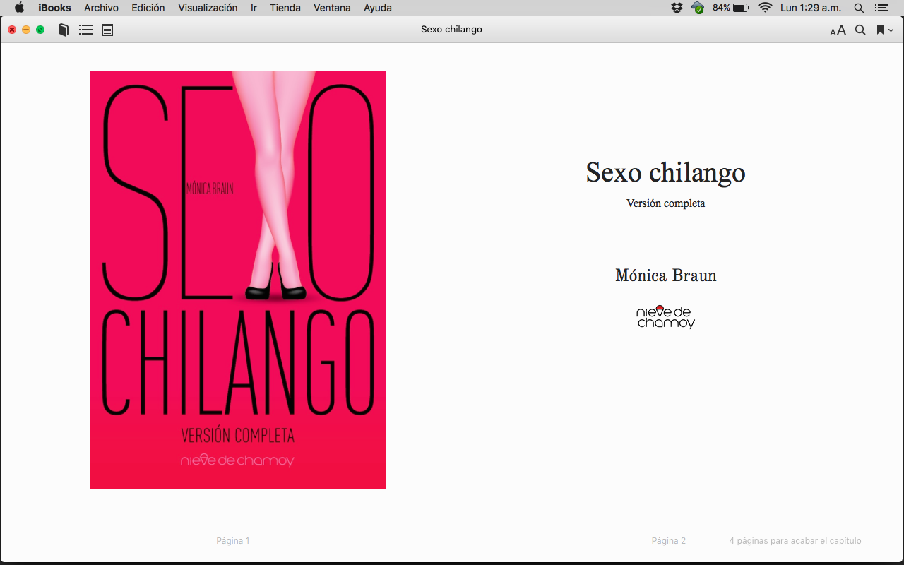 Captura de pantalla de iBooks